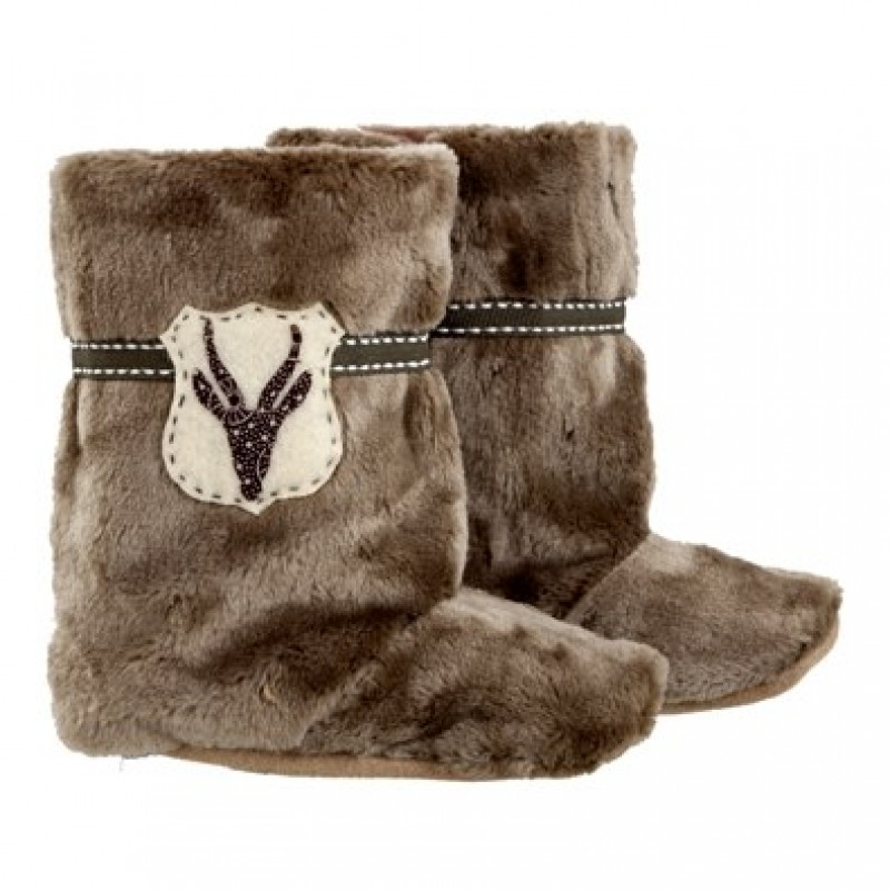 Taupe Fur and Bokkie Boots