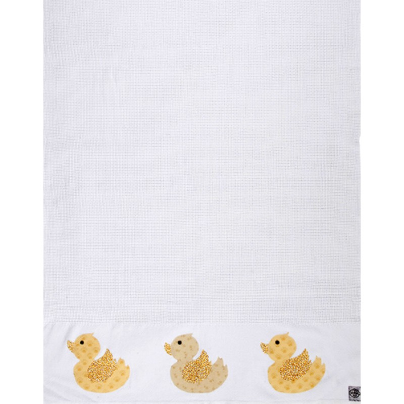 Baby Blanket with Ducks Detail