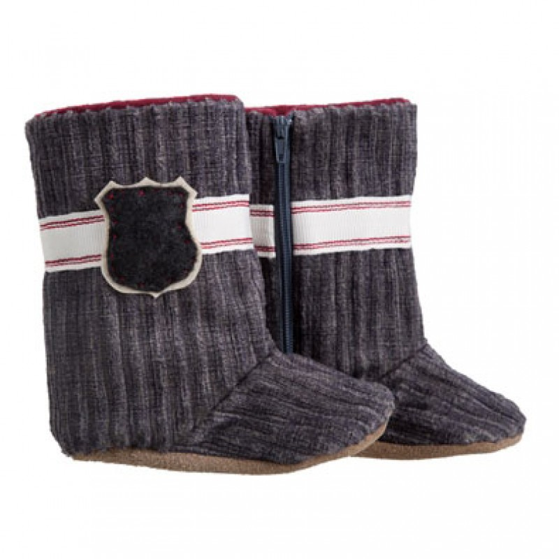 Charcoal Cord Boots