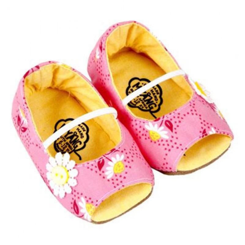 Pink Daisy Mary Janes