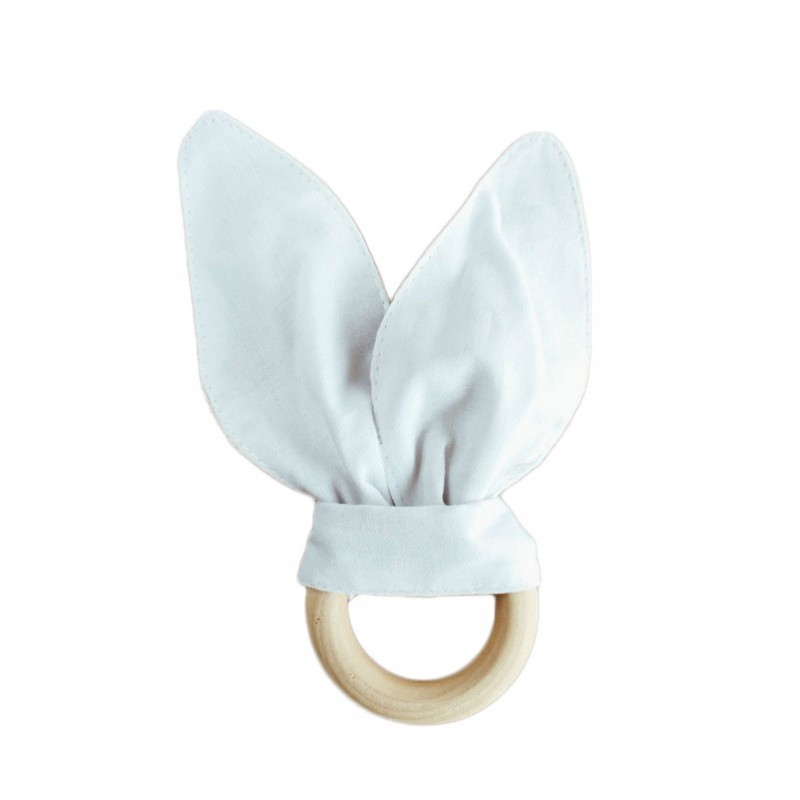 Bunny Ears Teether in Two-Tone Grey