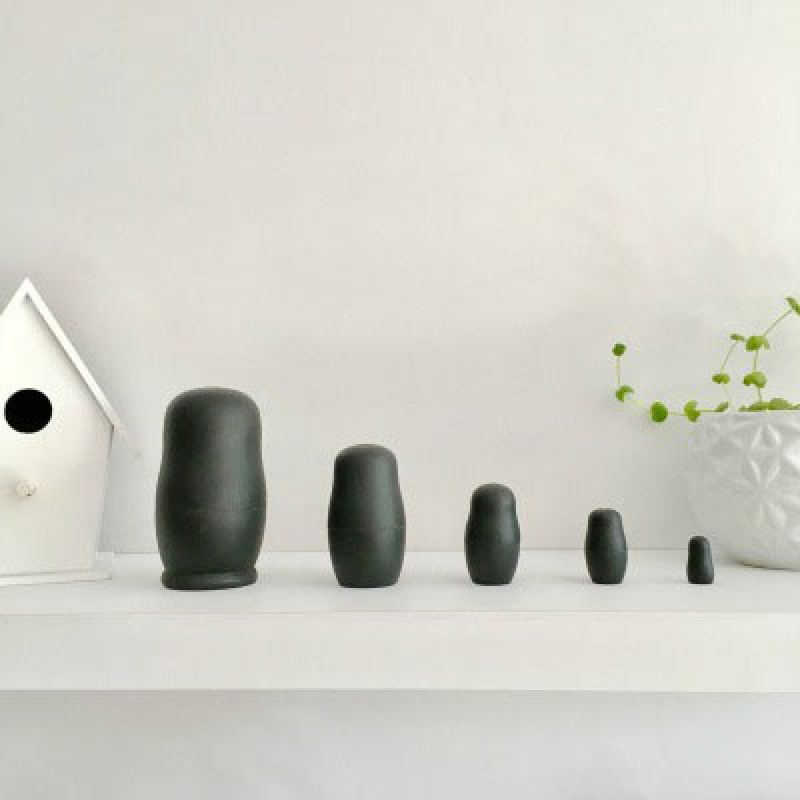 Nesting Dolls in Black