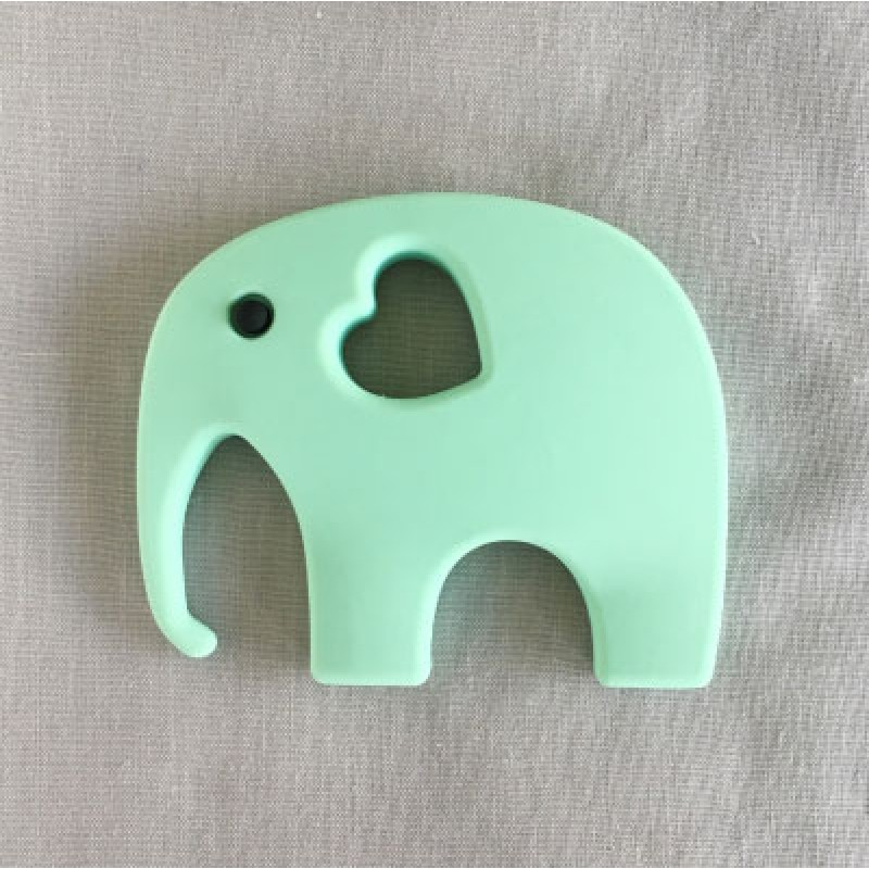 Ellie Silicone Teether in Green