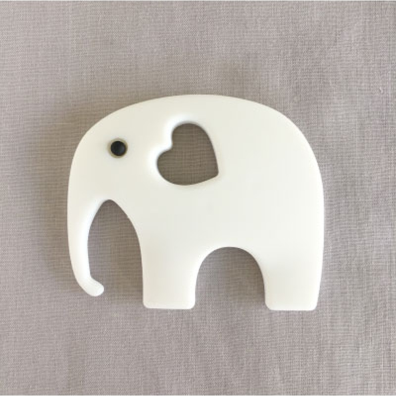 Ellie Silicone Teether in White